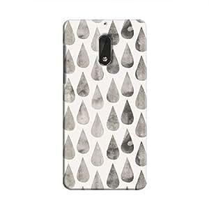 Cover It Up - White Dark Drops Nokia 6 Hard case