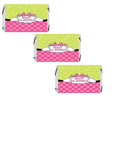 (Personalized Mouse Miniatures Candy Bar Wrapper Stickers)