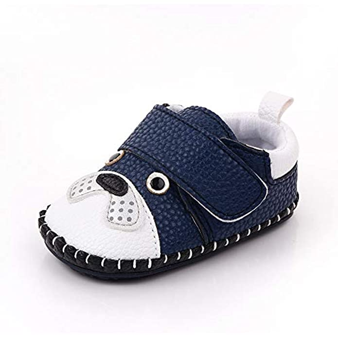 Lidiano Infant/Toddler Baby Non Slip Rubber Soft Sole Cartoon Walking Slip on Shoes Home/Outdoors