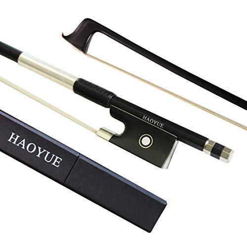 HAOYUE - arco de violín fibra de carbono 4/4 negro