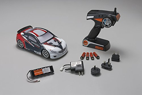 Dromida 1:18 Scale RTR Remote Control RC Car: Electric 4WD TC Touring Car with 2.4GHz Radio, 7.2V 6C 1300mAh NiMH Rechargeable Battery, 4 x AA Batteries and Charger