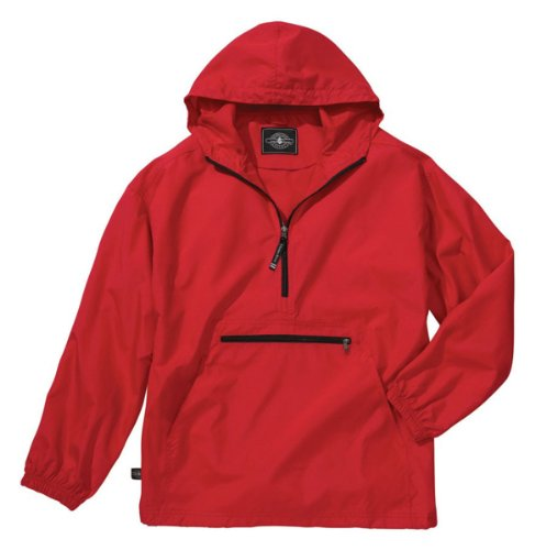 Charles River Apparel Unisex Youth Pack- N- Go Pullover, Large Red