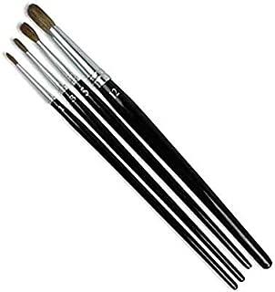 product image for GORDON BRUSH 6020-01000 Camel Hair Round Artist, Black Gloss Wood Handle, Size 1