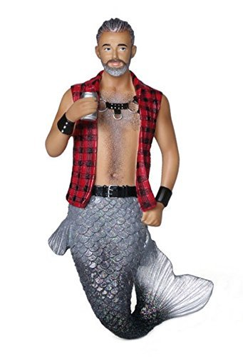 December Diamonds Sir Leather Merman Wearing Flannel Christmas Ornament 5555043