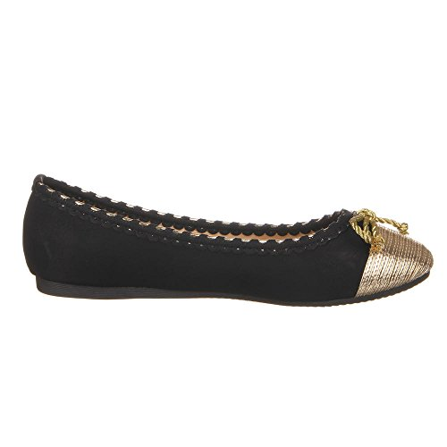 shoes ballerina 1053 BL Black women's BSwgxwAq