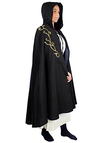 Epic Armoury - Abrigo - capa - para hombre negro/azul oscuro M: Amazon.es: Ropa y accesorios