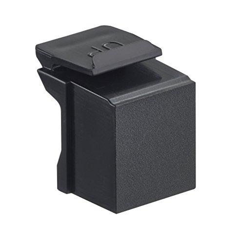 Leviton 41084-BE Blank Quickport Insert, 10-Pack, Black