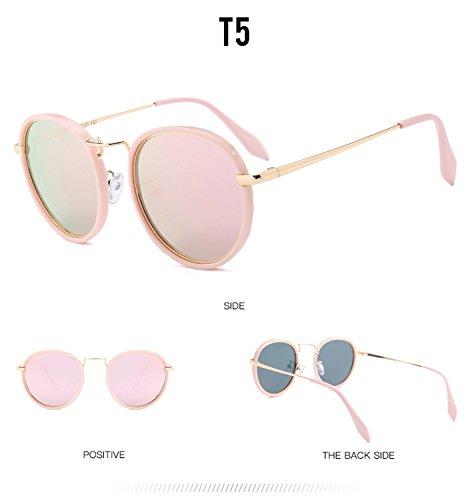 marco hombres de reflectante polarizadas de de moda diseñador de para la vendimia nuevo protección metal las gran ATNKE sol UV400 de ovales retro HD gafas lente tamaño de gafas T5 con mujeres IHwUqw6ZY