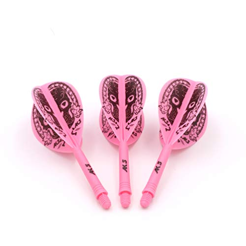 (CUESOUL Integrated Darts and Flights Pink Dart Flights)