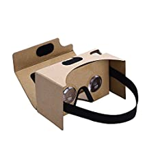 Cardboard Kit VR Headset with Vtin Upgraded Resin Lens 3D Virtual Reality Glasses for 4 - 5.5 Inches Phones ( with Capacitive Sensing Switch/ Nose Pad )