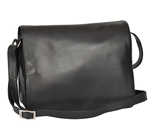 Leather Cross Body Over LARGE Bag Work Black Flap A53 Bag Shoulder Womens BwFaYxq5n