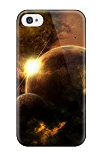 For Iphone 4/4s Tpu Phone Case Cover(space Art )