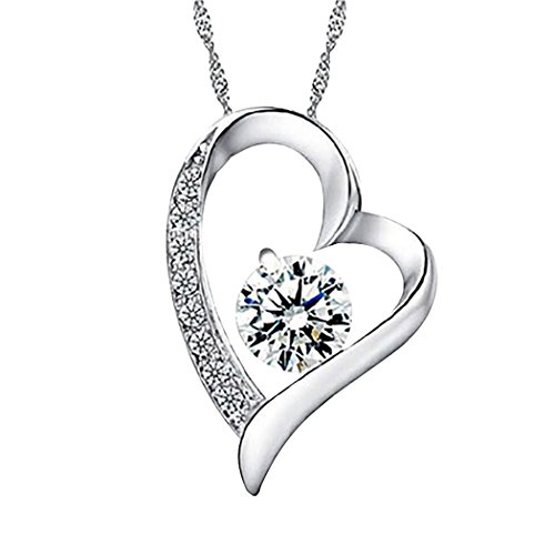 [Real Spark(TM) Women Forever Lover Heart Pendant Sterling Silver Elegant Necklace Christmas Gift] (Homemade Dragon Costumes Ideas)