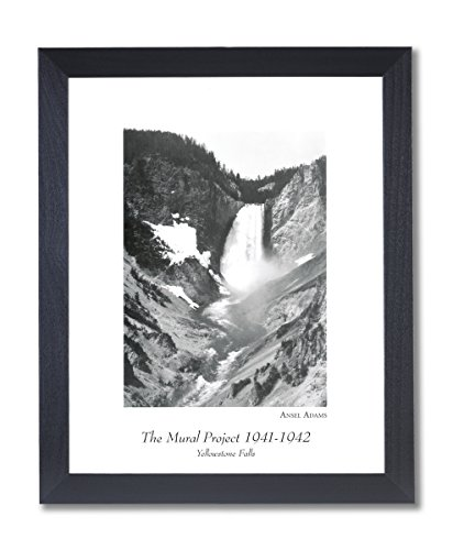 Art Ansel Adams - Solid Wood Black Framed Ansel Adams Yellowstone Falls B/W Photo Pictures Art Print