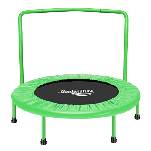 Gardenature Trampoline-36 Portable Indoor Trampoline for Kids-Green