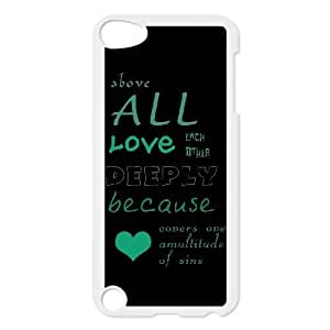 Unique Design Cases Ipod Touch 5 Cell Phone Case Bible Verse 1 Peter 4.8 Xmcbg Printed Cover Protector