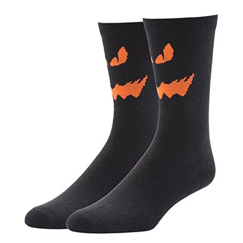 JYinstyle men's Crew Cotton Socks Halloween Ghost Devil Face (Devil Face Halloween)