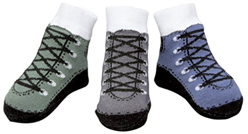 Baby Infant Boy Socks Ant-slip Soles 3 Pairs-Gift Packaged Cotton Baby Shower Present