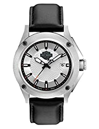 Bulova 78B125 Timepieces Men's Quartz Analog Watch with White Dial with Black Markers on Dial and Black Leather Strap