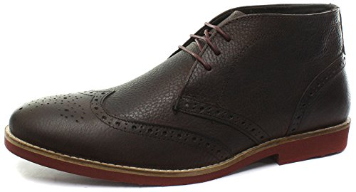 Red Tape Foxhill Bruin Lederen Heren Desert Brogue Boots, Maat 11