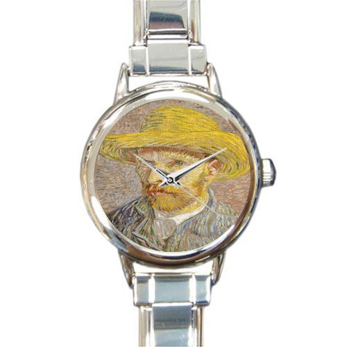 Personalized Watch Self-Portrait by Vincent Van Gogh Round Italian Charm stainless steel Watch