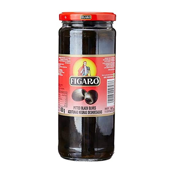 FIGARO Pitted Black Olives, 420 g