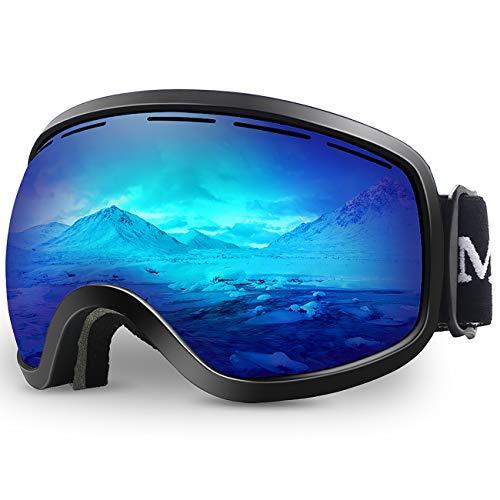 Ski Goggles,OTG Anti-Fog Snowboard Skate Snowmoblie Interchangeable Double Layer Spherical Lens Frameless Snow Goggles Men Women Juli M3
