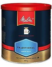 MELITTA Traditional Medium Roast Coffee, Ground Coffee, 100% Arabica Coffee Beans, Premium Coffee, Kosher Certified, 930 g