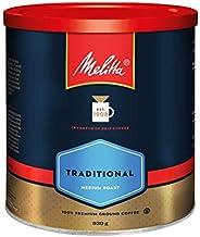 MELITTA Traditional Medium Roast Coffee, Ground Coffee, 100% Arabica Coffee Beans, Premium Coffee, Kosher Cert