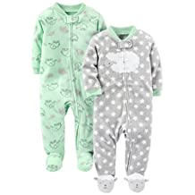 Simple Joys by Carter's Unisex Baby 2-Pack Fleece Footed Sleep and Play