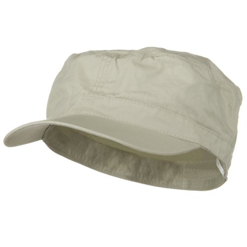 Big Size Fitted Cotton Ripstop Military Army Cap Stone