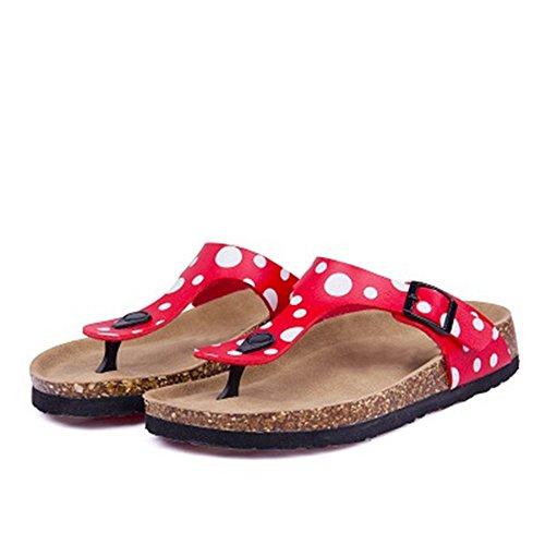 Flop Platform Slip On Thong Cork Sandal 14 YaMiFan Women's Sandal Flat Thong Shoes Flip Slide nXxIwqX0UP