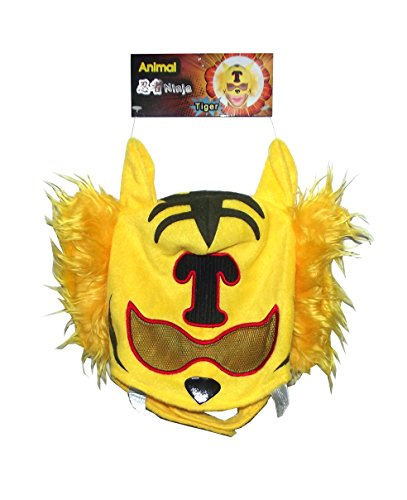 Tiger Ninja Costume - Costume Evolution Tiger Animal Ninja Mask, One Size