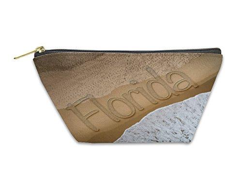 Gear New Accessory Zipper Pouch, Florida Written On The Beach, Small, - Stores Beach Daytona Fl In