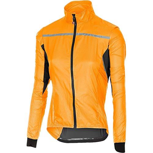 (Castelli Superleggera Jacket - Women's Orange, S)