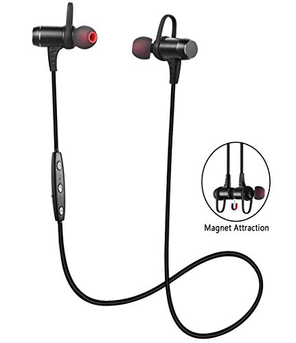 Bluetooth Headphones, Ansion Wireless Bluetooth 4.1 Sport Headset IPX5 Sweat-proof...
