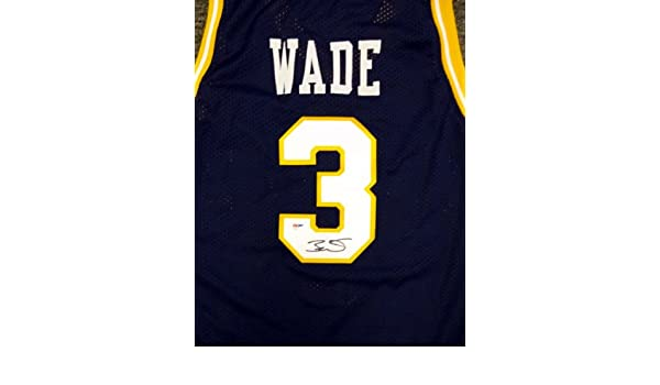 san francisco 2fb25 c0f8e Dwyane Wade Signed Marquette Blue Jersey - PSA DNA at ...