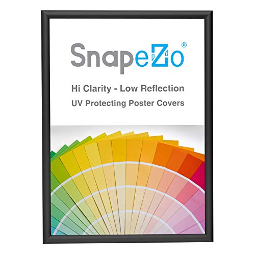 SnapeZo Poster Frame 5x7 Inches, Black 0.6 Inch Aluminum Profile, Front-Loading Snap Frame, Wall Mounting, Super-Slim Series
