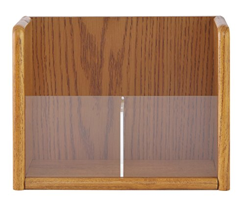 Sandusky Buddy 0622-16 Wood 1 Tier Pamphlet/Brochure Holder Organizer, Table Top or Wall Mount, 8.5 x 11 (Pack of 2)