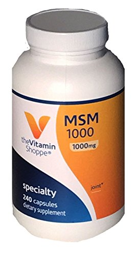 The Vitamin Shoppe MSM 1000 Specialty 240 Caps, (1000mg)