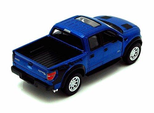 2013 Ford F-150 SVT Raptor SuperCrew Pickup Truck, Blue - Kinsmart 5365D - 1/46 scale Diecast Model Toy (Blue Ford Truck)