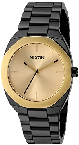 Nixon Women's 'Catalyst, Gold' Quartz Stainless Steel Watch, Color:Black (Model: A918-010-00)