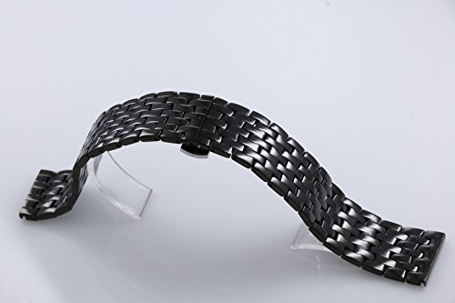 23mm Wide Changeable Watch Belt Bracelets for Men Black Metal Watch Bands Stainless Steel by autulet (Image #3)