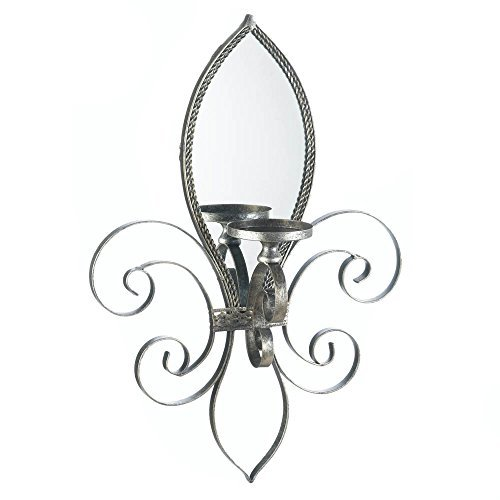 Home Locomotion - Fleur-de-lis Mirrored Wall Sconce (pack of 1 EA)