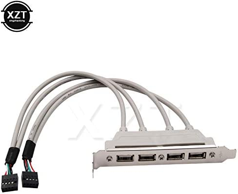 Cable Length: 0.2m Connectors Newest for MainBoard 4 Port USB 2.0 to 9 Pin Bracket Header Extension Cable
