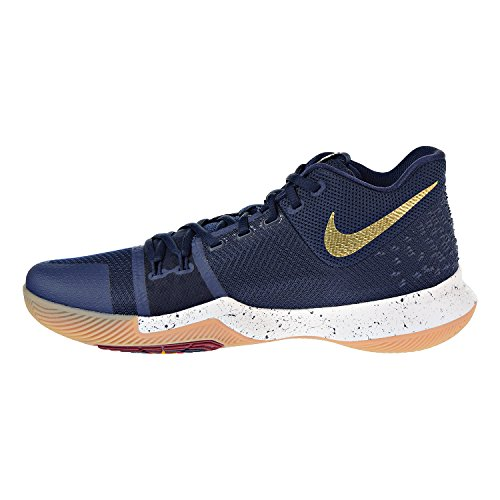 Nike Mens Kyrie 3 Basket Scarpa Ossidiana / Metallico Oro Bianco-vertice