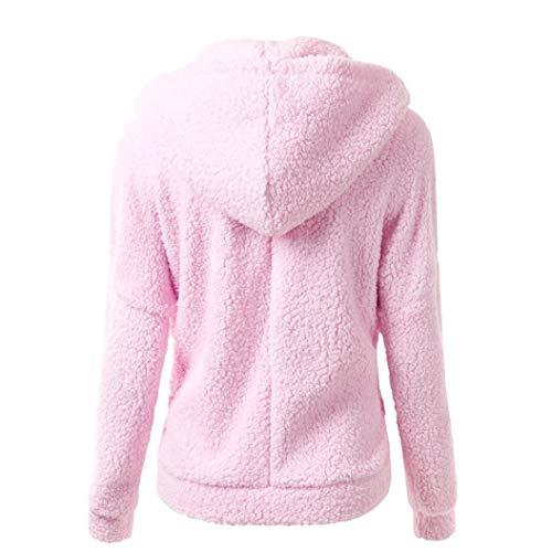 Liraly Womens Coats,Clearance Sale! 2018 Fashion Women Hooded Sweater Coat Winter Warm Wool Zipper Coat Cotton Coat Outwear(US-8 /CN-L,Prink) by Liraly (Image #2)