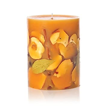 Rosy Rings Spicy Apple, 9 Inch Big Round Botanical Candle by Rosy Rings