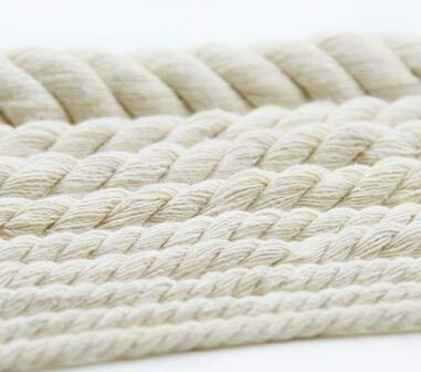FINCOS Twist Rope Cotton Rope Thick Cotton Yarn Decorative Rope Rice White Rope - (Color: 20 mm)