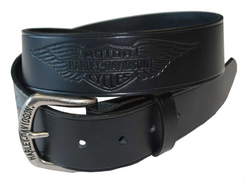 Harley Davidson Mens Black Leather HDMBT10585